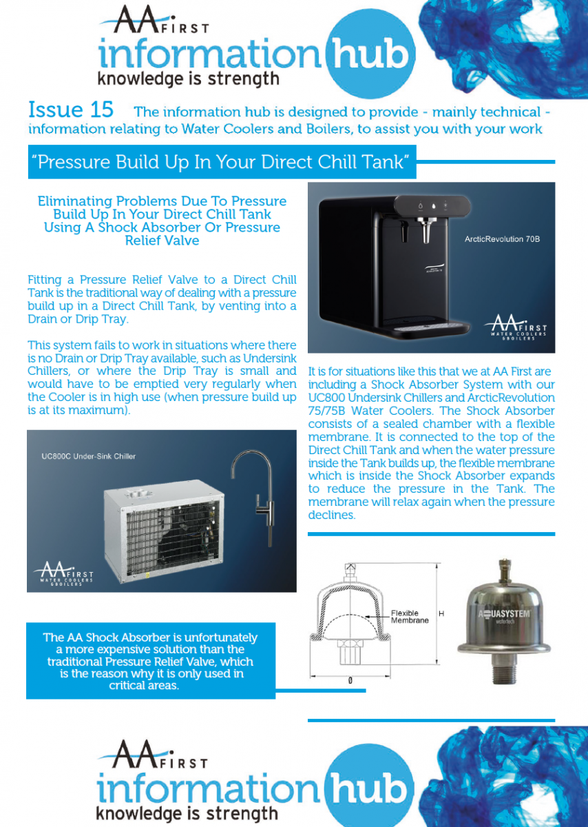 Issue 15 PRESSURE BUILD UP IN YOUR DIRECT CHILL TANK -