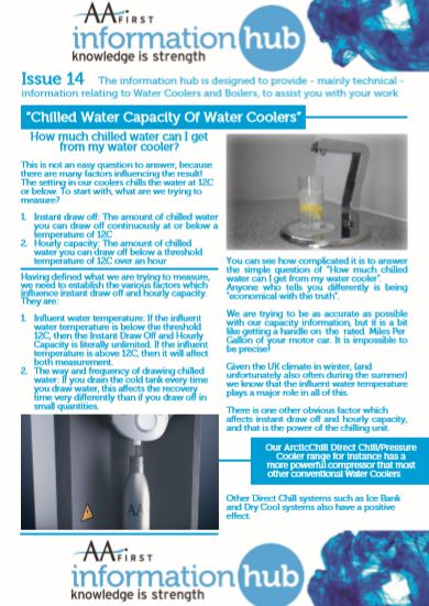 Issue 14 CHILLED WATER CAPACITY -